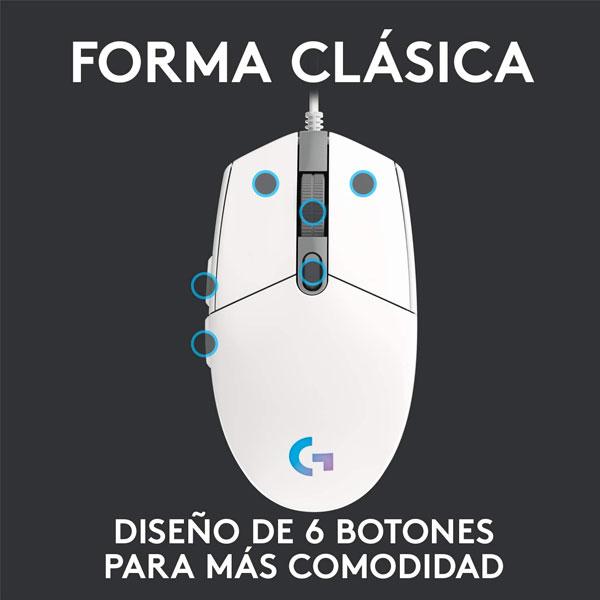 Logitech G203 Blanco 4