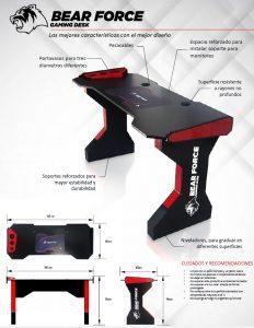 escritorio bear force gaming